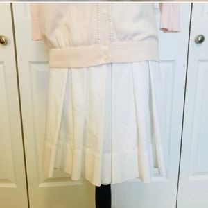 LOFT White Pleated Skirt